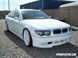 2005 BMW 760Li custom painted wheels body kit